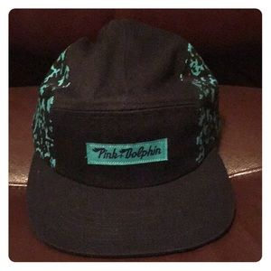 5-Panel Limited Edition Aqua Pink Dolphin Hat